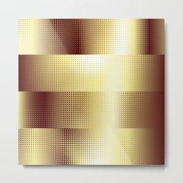Copper Pattern Metal Print