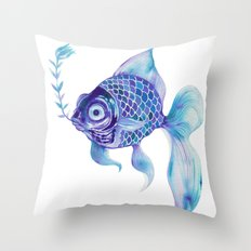 Baby Blue #5 Throw Pillow