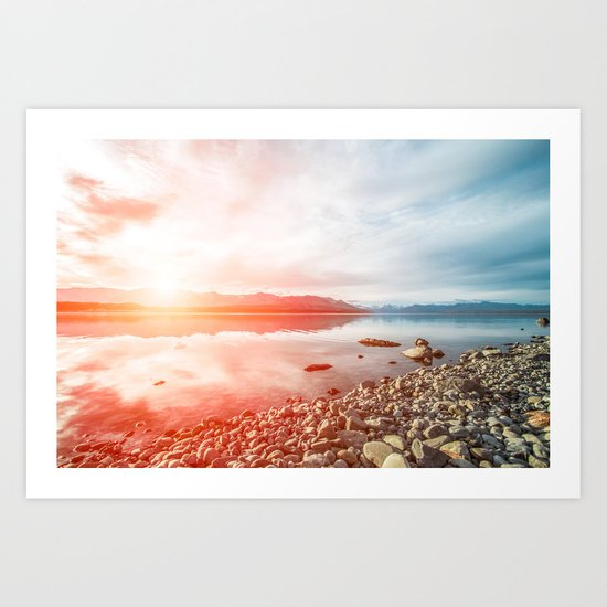 Sunset Landscape #photography Art Print