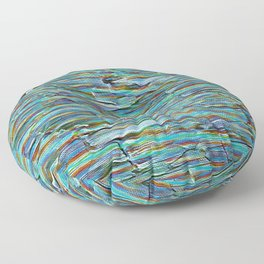 Nature Abstract In Turquoise Floor Pillow