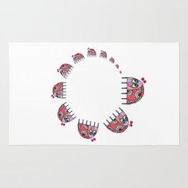 A Ladybird's Family Circle Rug
