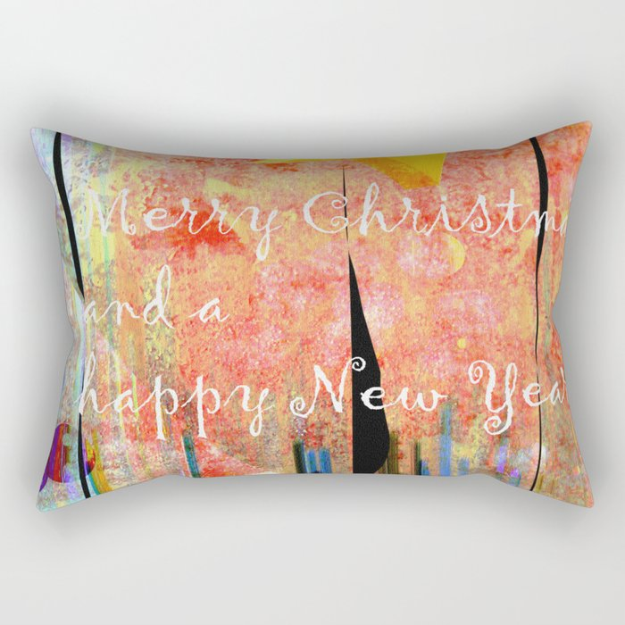 Merry Christmas and a happy New Year Rectangular Pillow