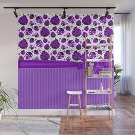 Purple Ladybugs Wall Mural
