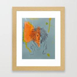 Girl with Great Hair Framed Art Print