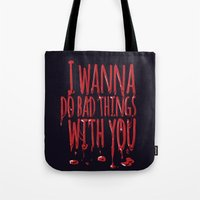 true blood Tote Bags featuring True Blood  by Lita Rebello