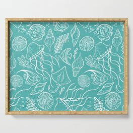 Sea Life - Aqua Serving Tray