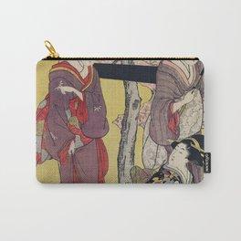 Gotenyama no Hanami Hidari by Utamaro Kitagawa (1753-1806) a print of a traditional Japanese women i Carry-All Pouch