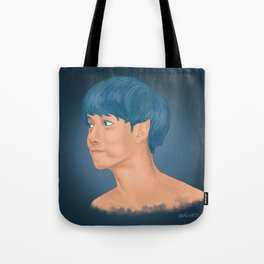 blue his house with a blue lil window... Tote Bag