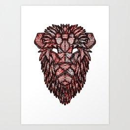 Lion Mask Art Print
