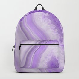 Soft Lavender Agate Dream #1 #gem #decor #art #society6 Backpack