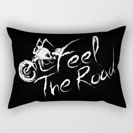 Feel the road Black Rectangular Pillow
