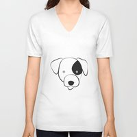 jack russell V-neck T-shirts featuring Jack Russell by anabelledubois