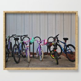 Family Bicycles Serving Tray