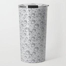 silver water drops Travel Mug
