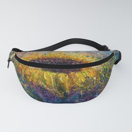 Sunflower In the Swirls of Sunshine Fanny Pack