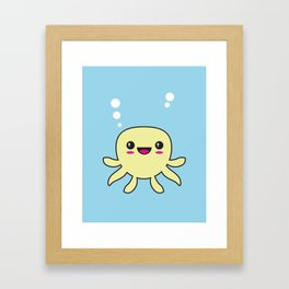 Kawaii Octopus Framed Art Print