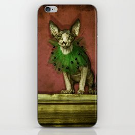 Green collar iPhone Skin