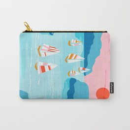 Tight - memphis throwback retro vintage classic sport boating yachting sailboat harbor sea ocean art Carry-All Pouch