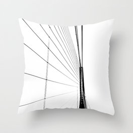 Normandy Bridge 2 Throw Pillow