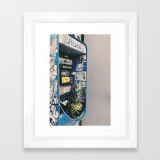 Pineapple on the phone Framed Art Print