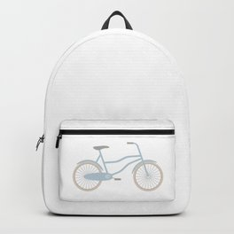 Blue Retro Bicycle Backpack