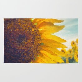 Sunflower Field In Late Summer Rug