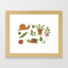 L'orto è un giardino Framed Art Print