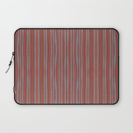 Grey and terracotta stripes Laptop Sleeve
