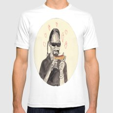 Snoop Dogg in love with a Hotdog Mens Fitted Tee MEDIUM White