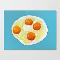 Four Fried Eggs  Canvas Print