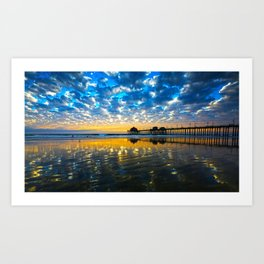 Huntington Beach Sunset   12/17/13   Art Print