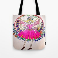fairy tale Tote Bags featuring Fairy tale by Daizy Boo