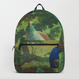 Peacock Chinoiserie Backpack