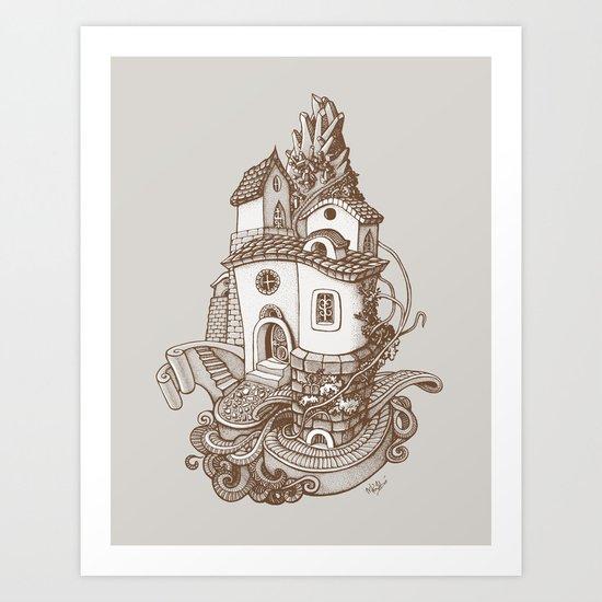 Crystal Mountain - 2 Art Print