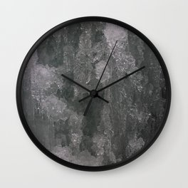 Dreamy Canyon Ice Crystals Wall Clock