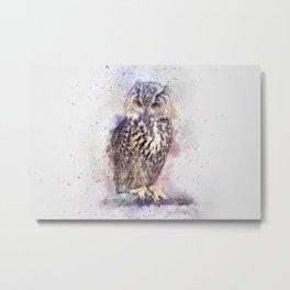 Owl art Metal Print