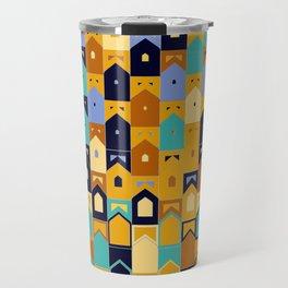 Colorful Arcs Rhythm  Travel Mug