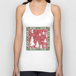 Winter. Christmas. Unisex Tank Top