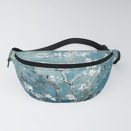 Vincent Van Gogh Almond Blossoms Teal Fanny Pack