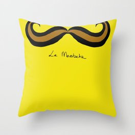 Monsieur Mustard Moustache Throw Pillow