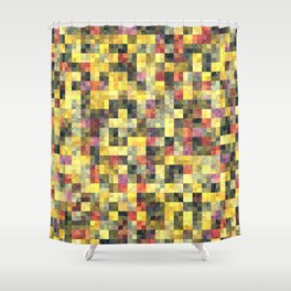 Yellow Squares Shower Curtain