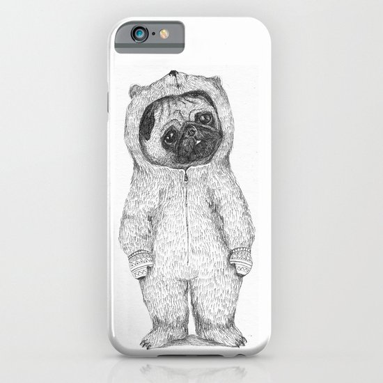 Winter pug iPhone & iPod Case