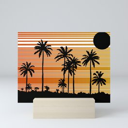 Retro 80s 90s Surfing Surfer Surf Lover Vintage Beach Sunset Mini Art Print