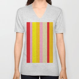 Bold Color - RED, YELLOW, AND PINK Unisex V-Neck