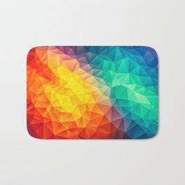 Abstract Multi Color Cubizm Painting Bath Mat