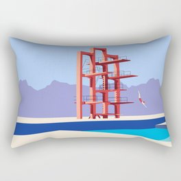 Soviet Modernism: Diving tower in Etchmiadzin, Armenia Rectangular Pillow