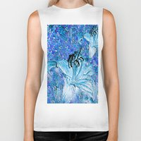 lily Biker Tanks featuring Lily  by Saundra Myles