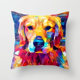 Golden Retriever 6 Throw Pillow