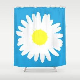 Blue Daisy (Yellow) Shower Curtain
