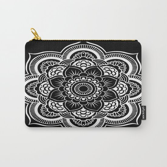 Mandala Black & White Carry-All Pouch